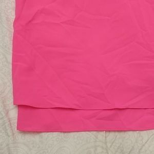 Anthropologie Tops - Anthropologie Paper Crane neon pink tank blouse